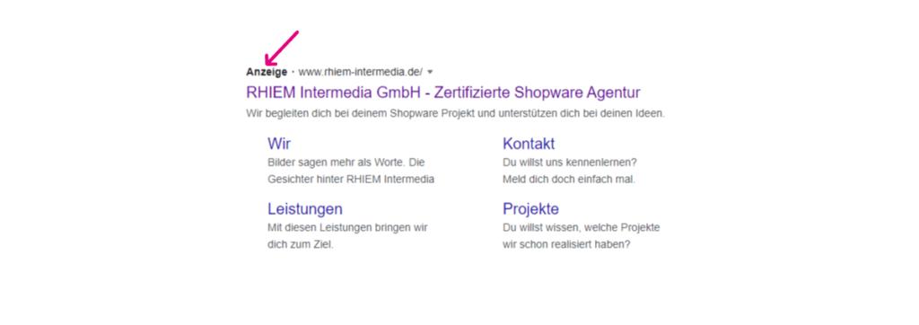 google-ads-bezahlte-anzeige-suchergebnis